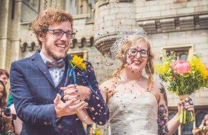 Norwich wedding, bride and groom